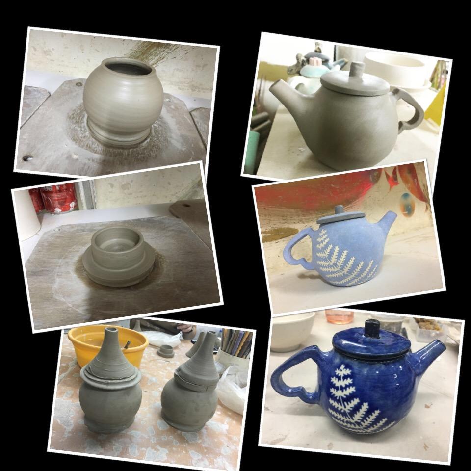 陶瓷班製作茶壺- hapife